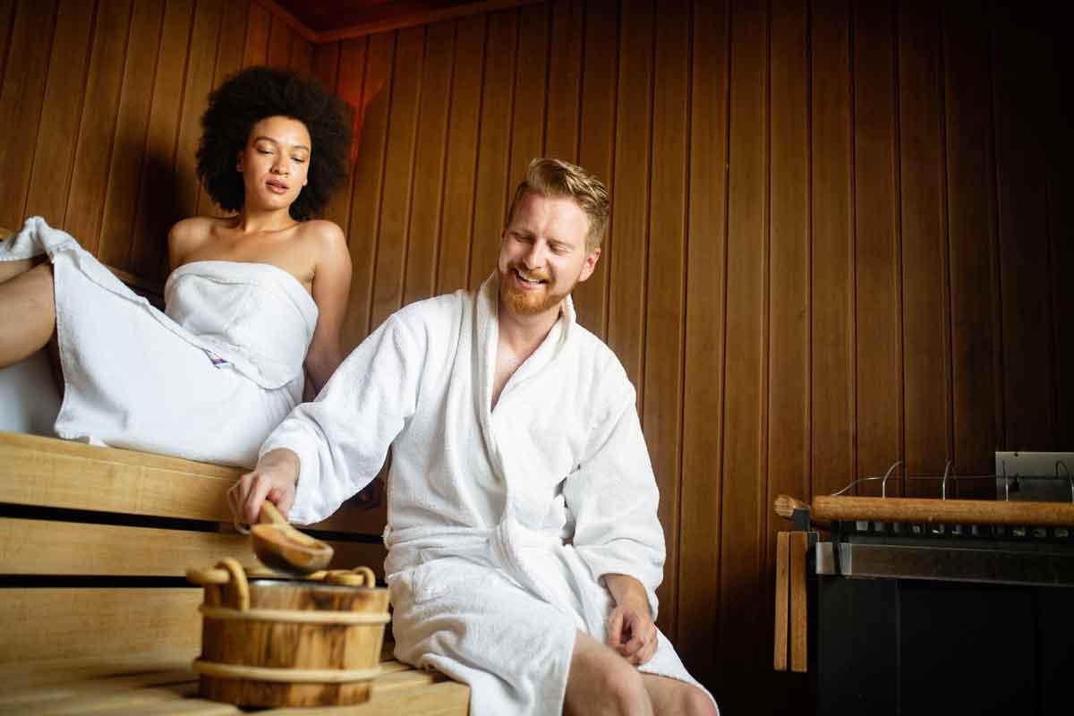 sauna op de kamer in hotel